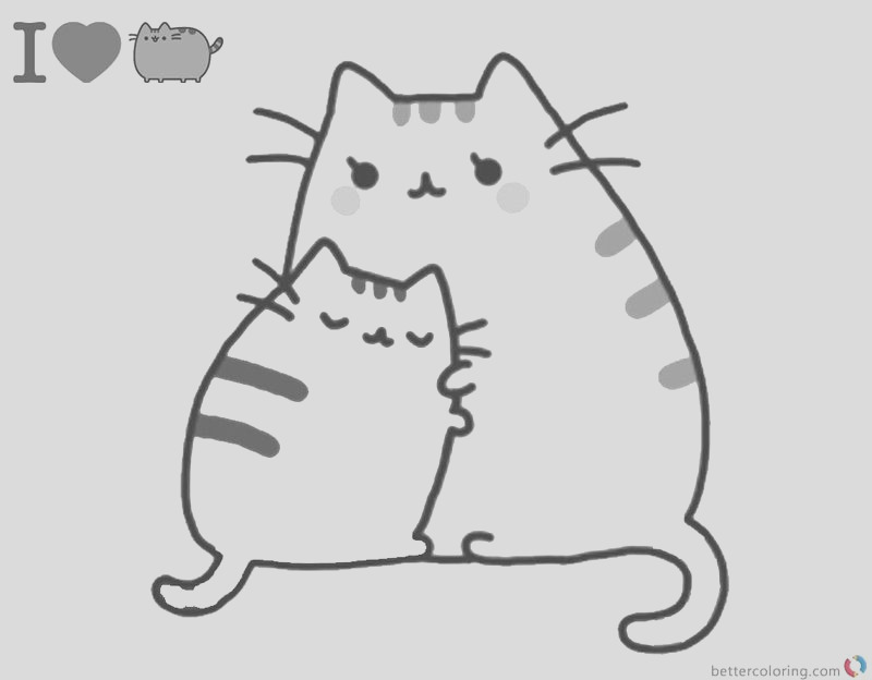 cute pusheen coloring pages image pdf