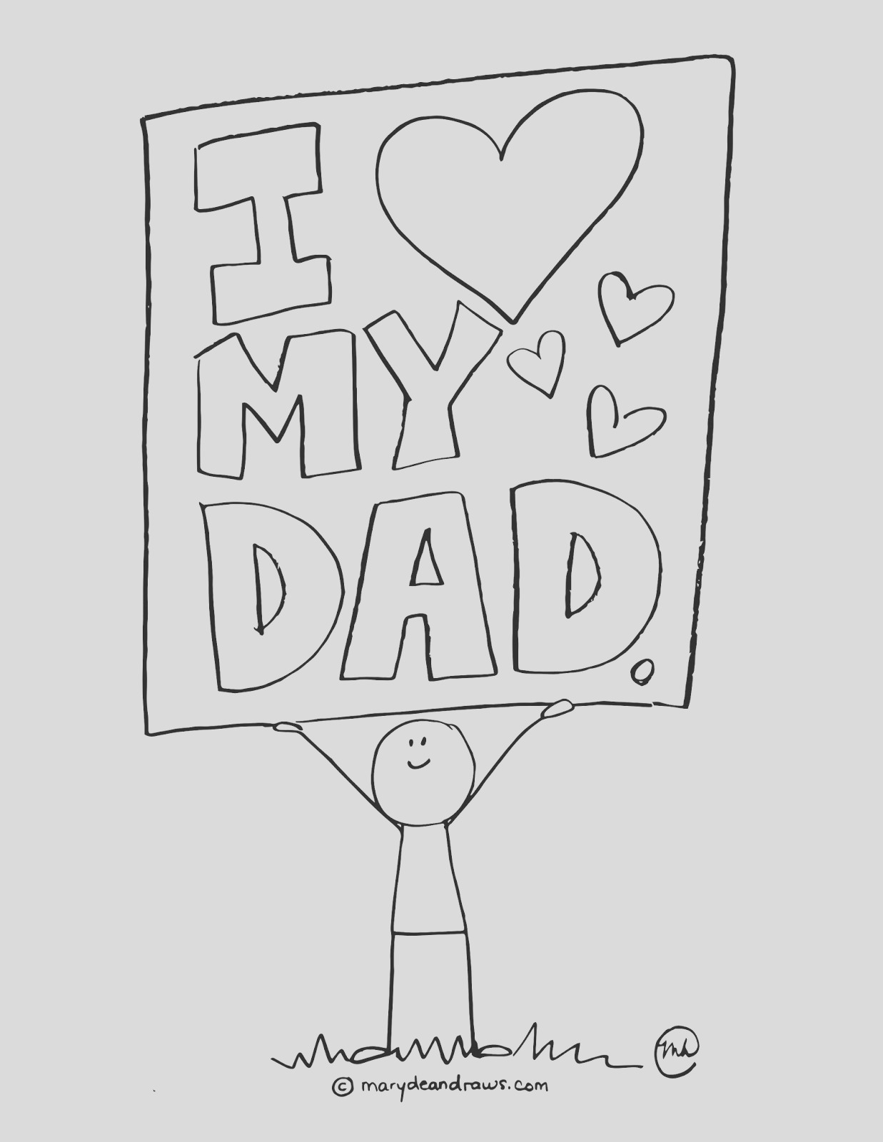 a fathers day printable coloring page