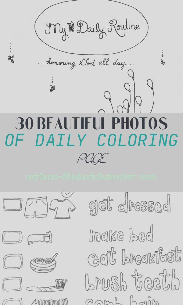 Daily Coloring Page New Daily Routine Coloring Book for Children Free Printable