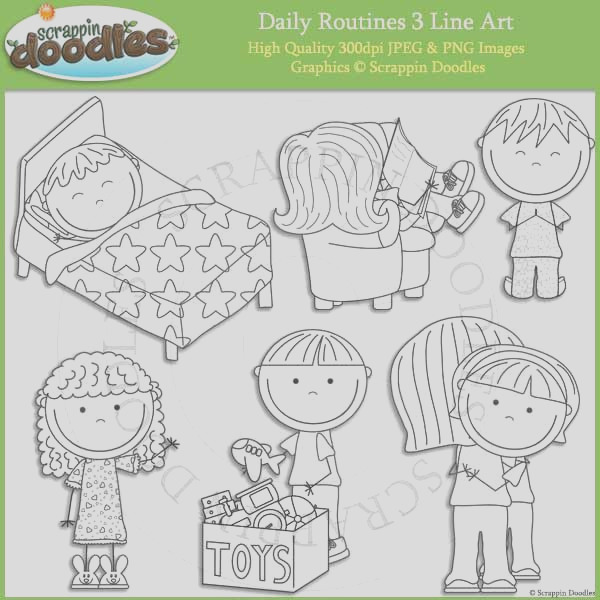 daily routines 1 clip art