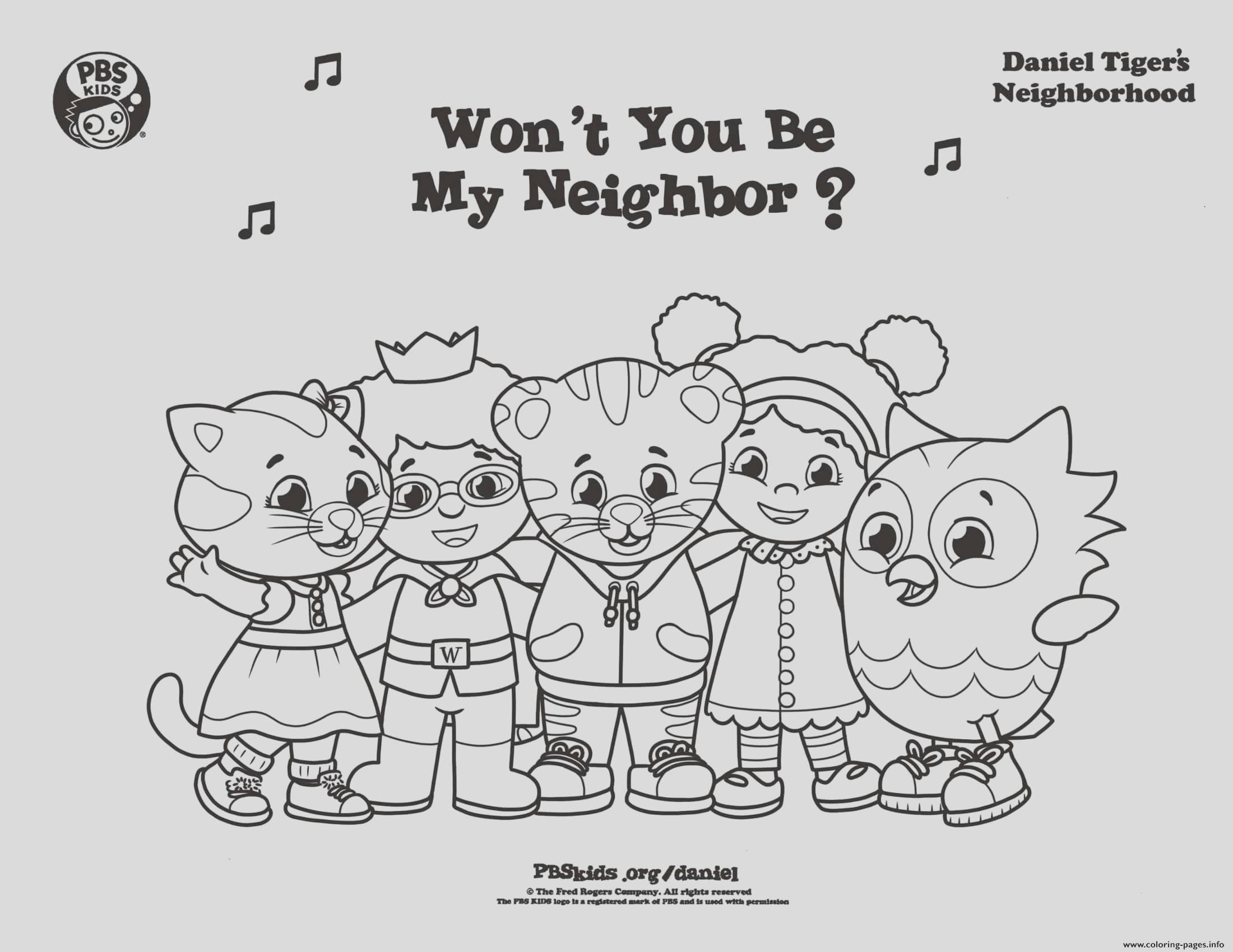 be my neighbor daniel tiger min printable coloring pages book