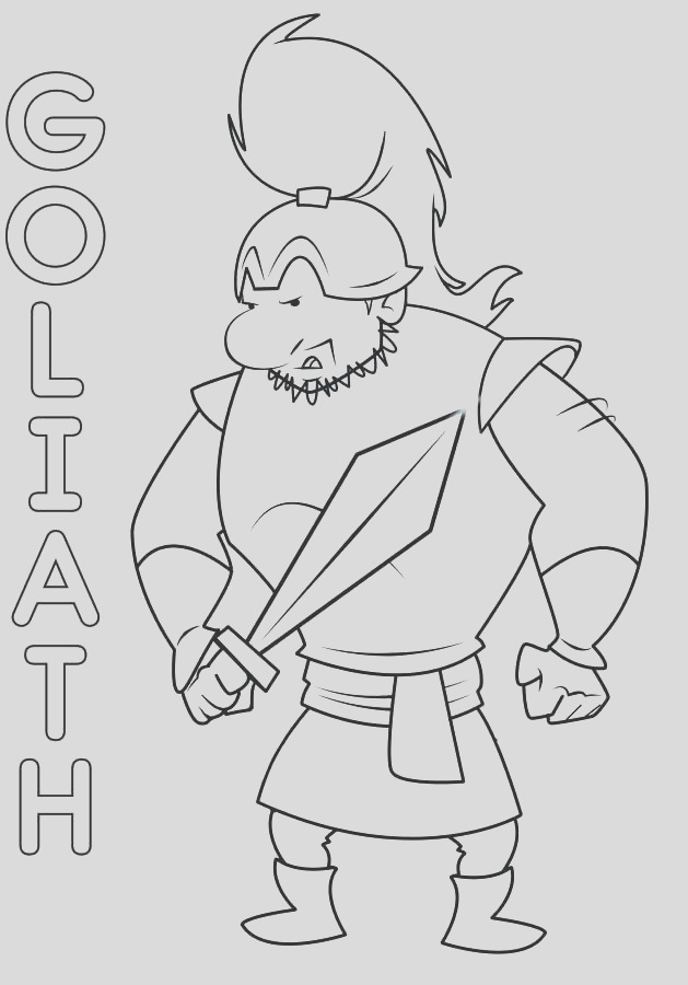 goliath coloring page