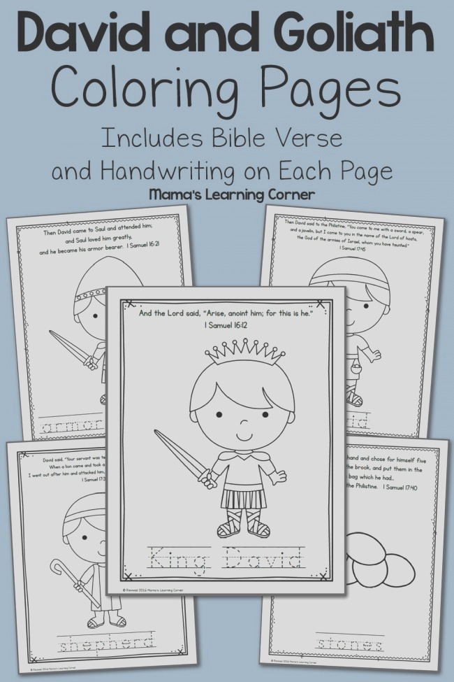 david goliath bible coloring pages