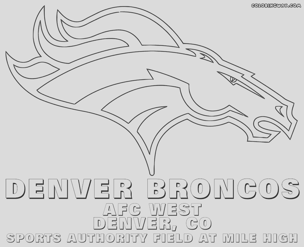 nfl coloring pages broncos