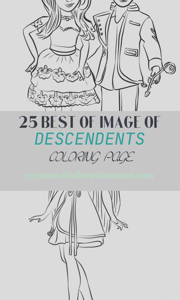 Descendents Coloring Page Fresh Descendants Ben and Mal Coloring Page