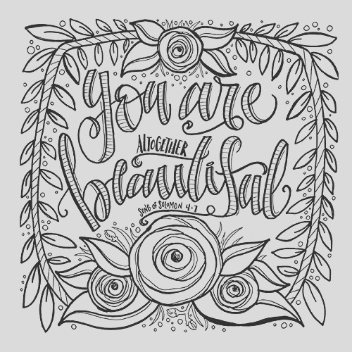 everything beautiful coloring book