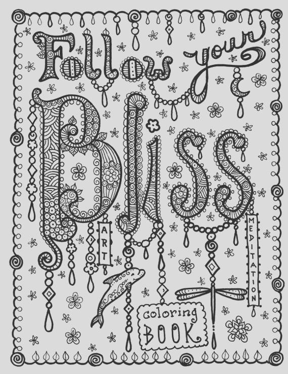 bliss coloring book of inspirational art
