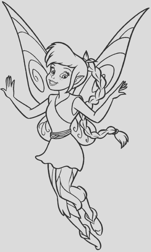 lovely fawn from disney fairies coloring page