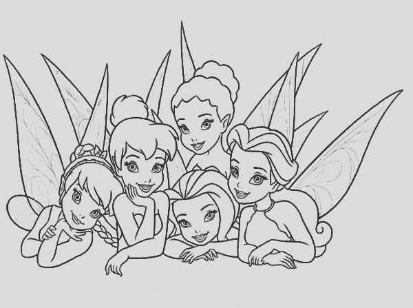 picture of beautiful disney fairies coloring page
