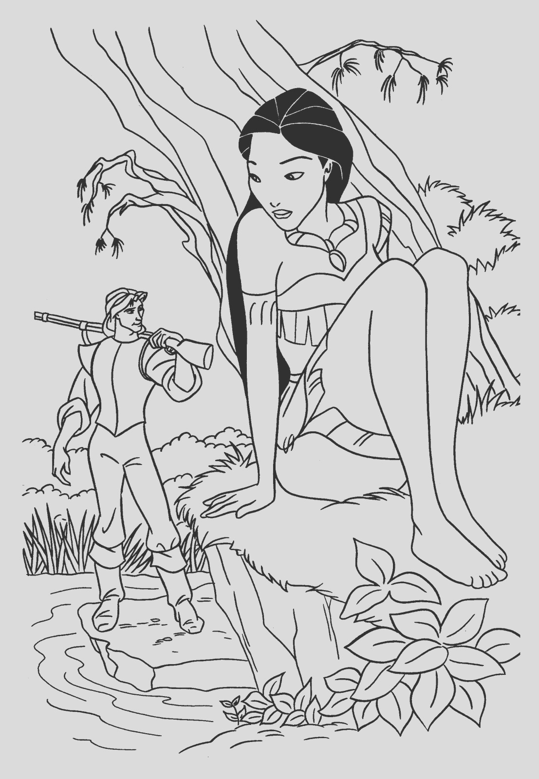 coloring pages for kids disney princess