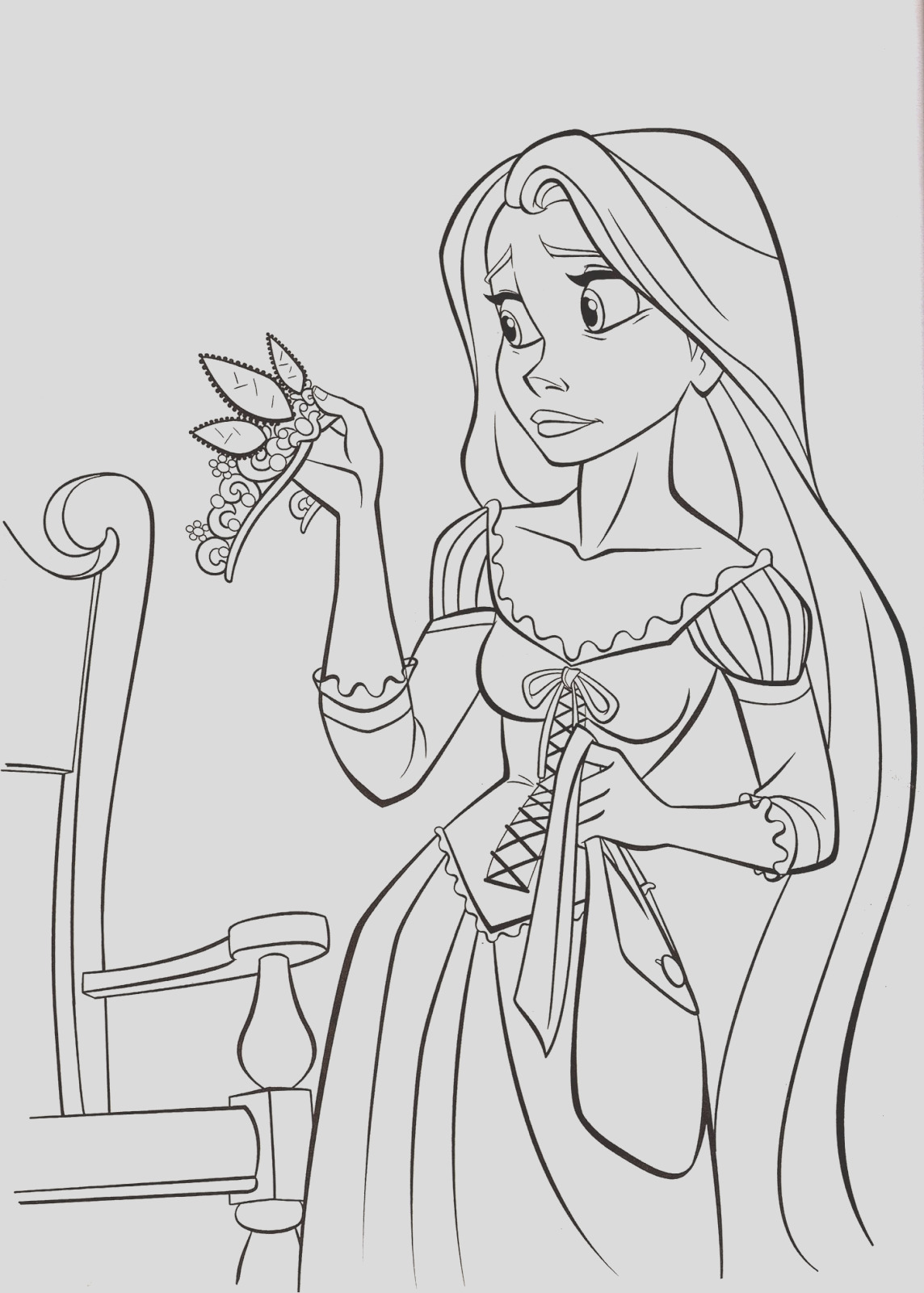 walt disney printable tangled princess