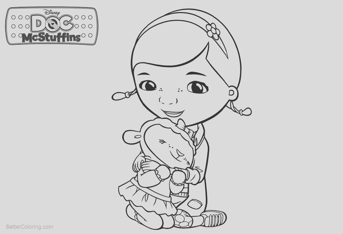 doc mcstuffins coloring pages lambie and dottie