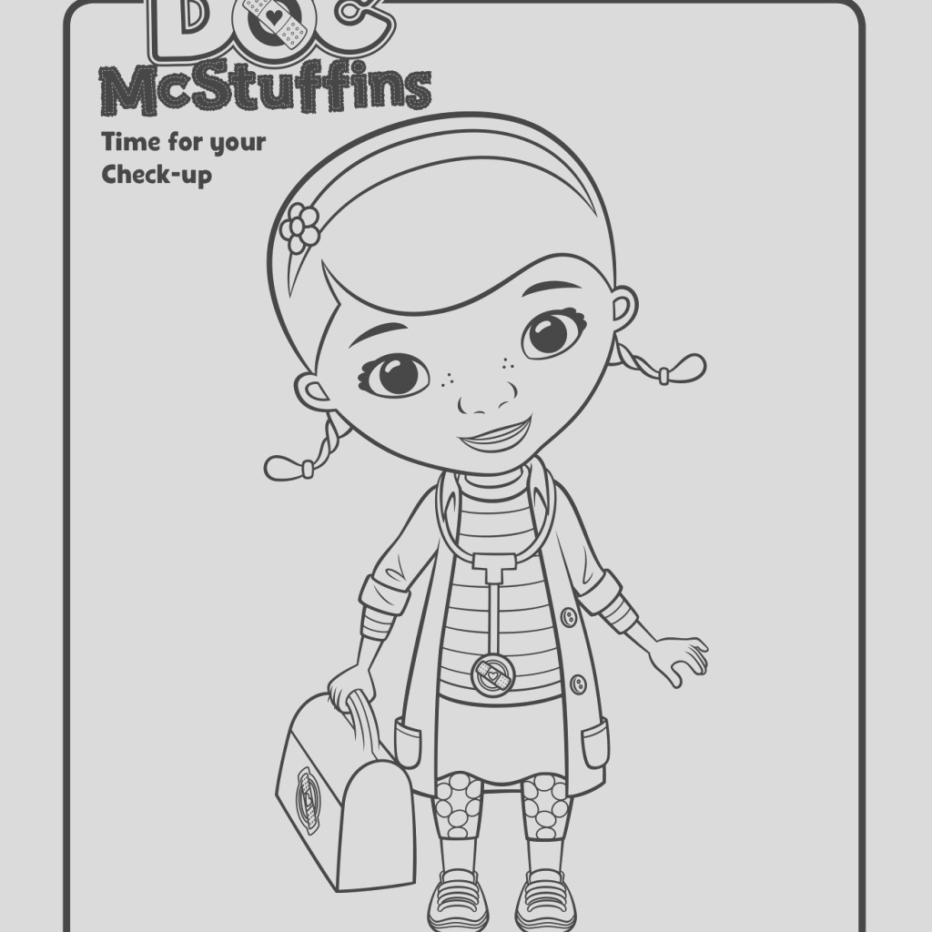 doc mcstuffins halloween coloring pages