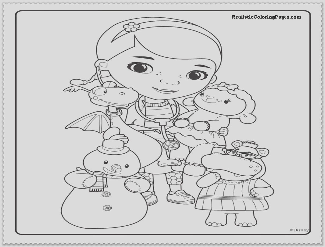 doc mcstuffins christmas coloring pages