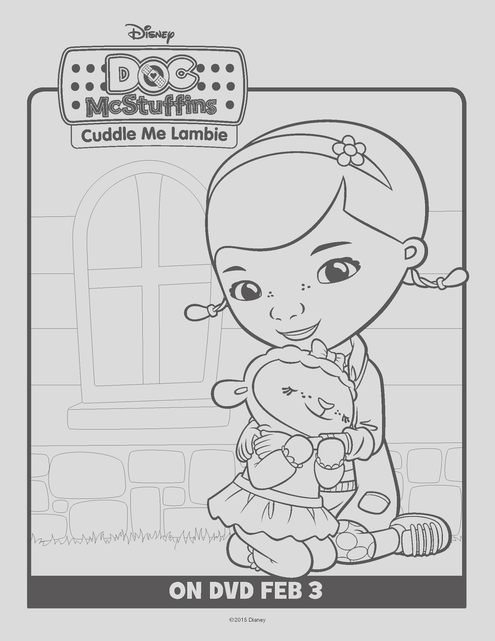 doc mcstuffins cuddle me lambie on dvd february 3 free printable coloring and activity sheets im giving away 2 dvds