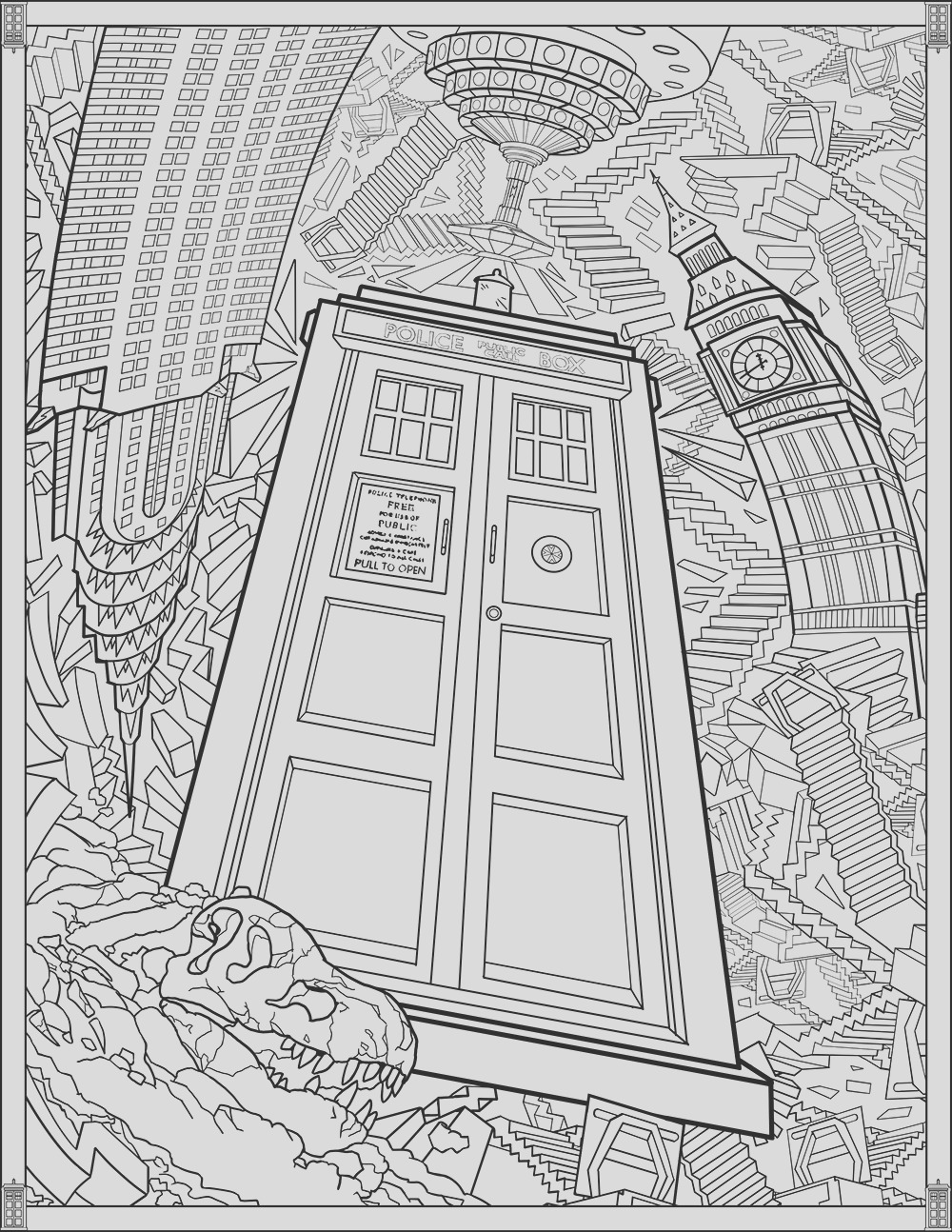 image=tv series Doctor Who Coloring Pages TARDIS 1