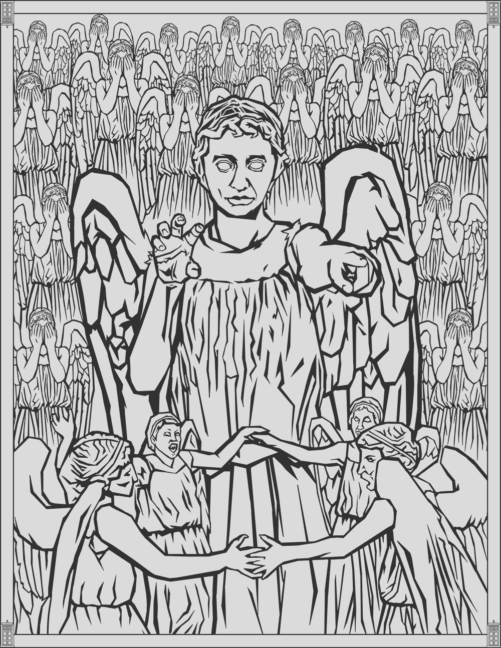 image=tv series Doctor Who Coloring Pages Weeping Angels 1