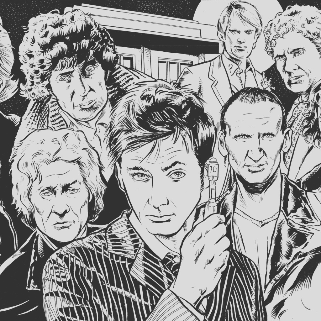 7 free doctor who fan art coloring books plus bonus coloring pages