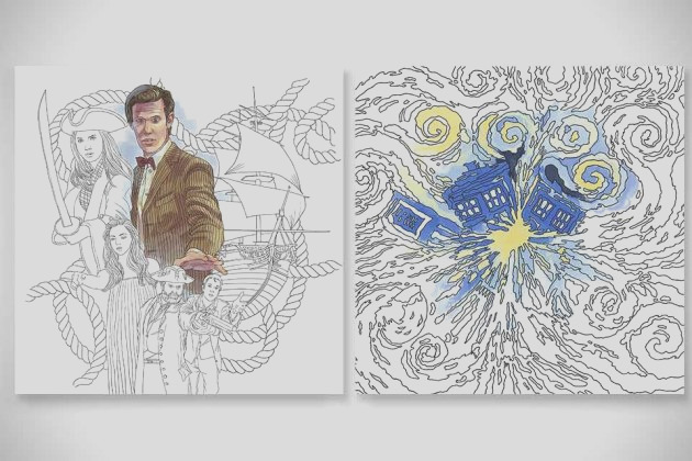doctor coloring books let color favorite tv show terms