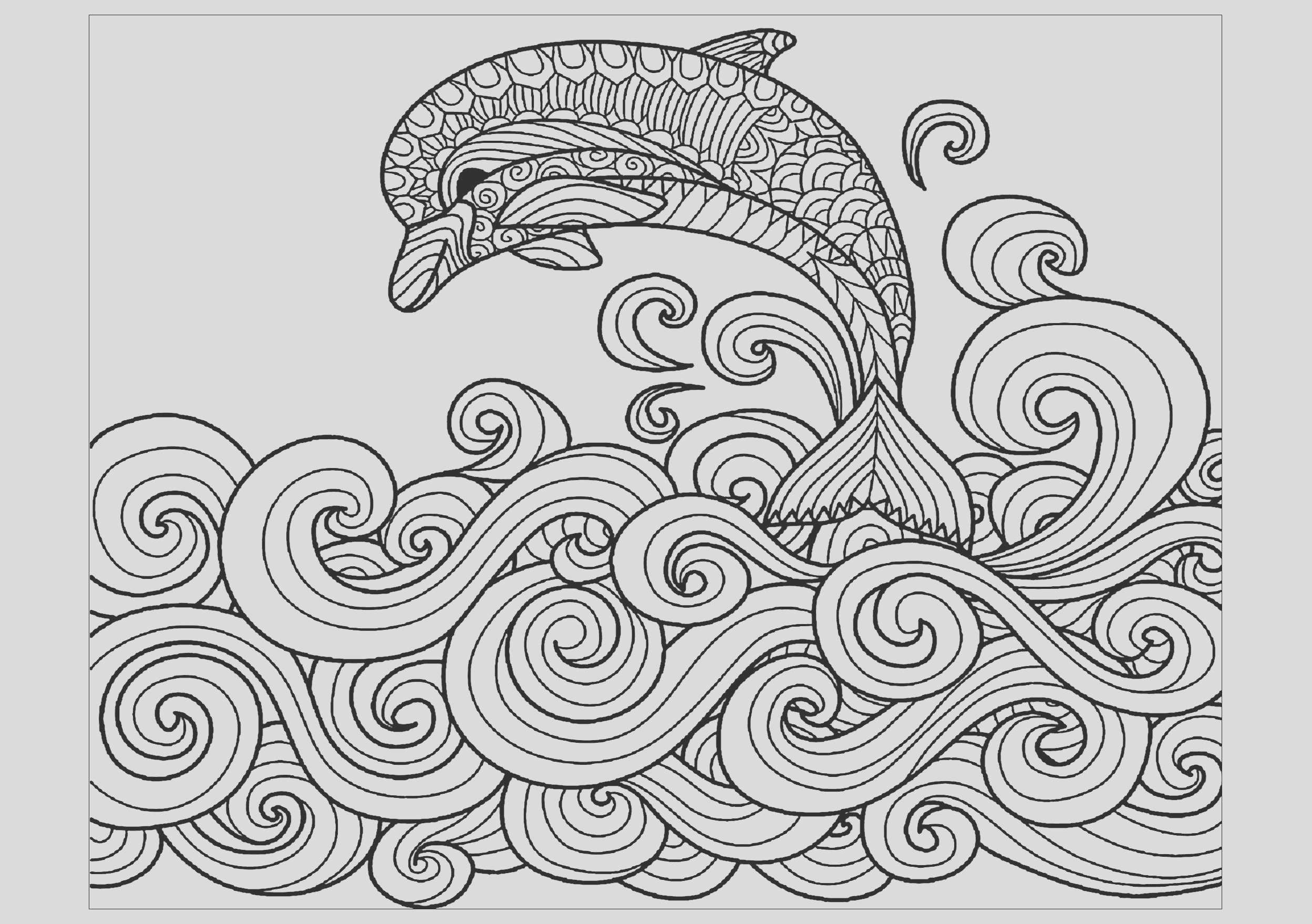 image=dolphins coloring dolphin waves 1