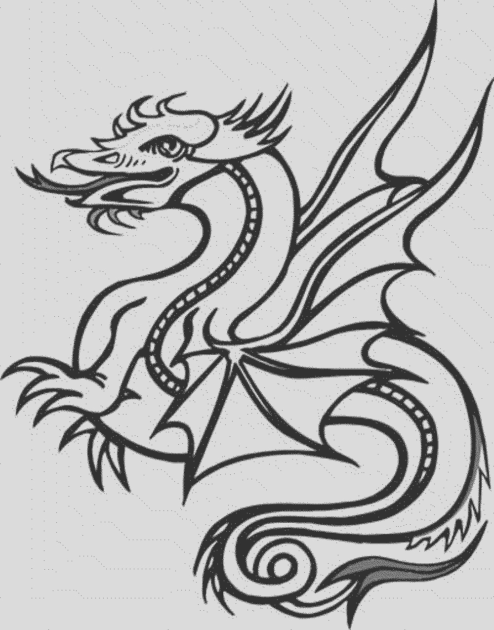 color dragon coloring pages websites