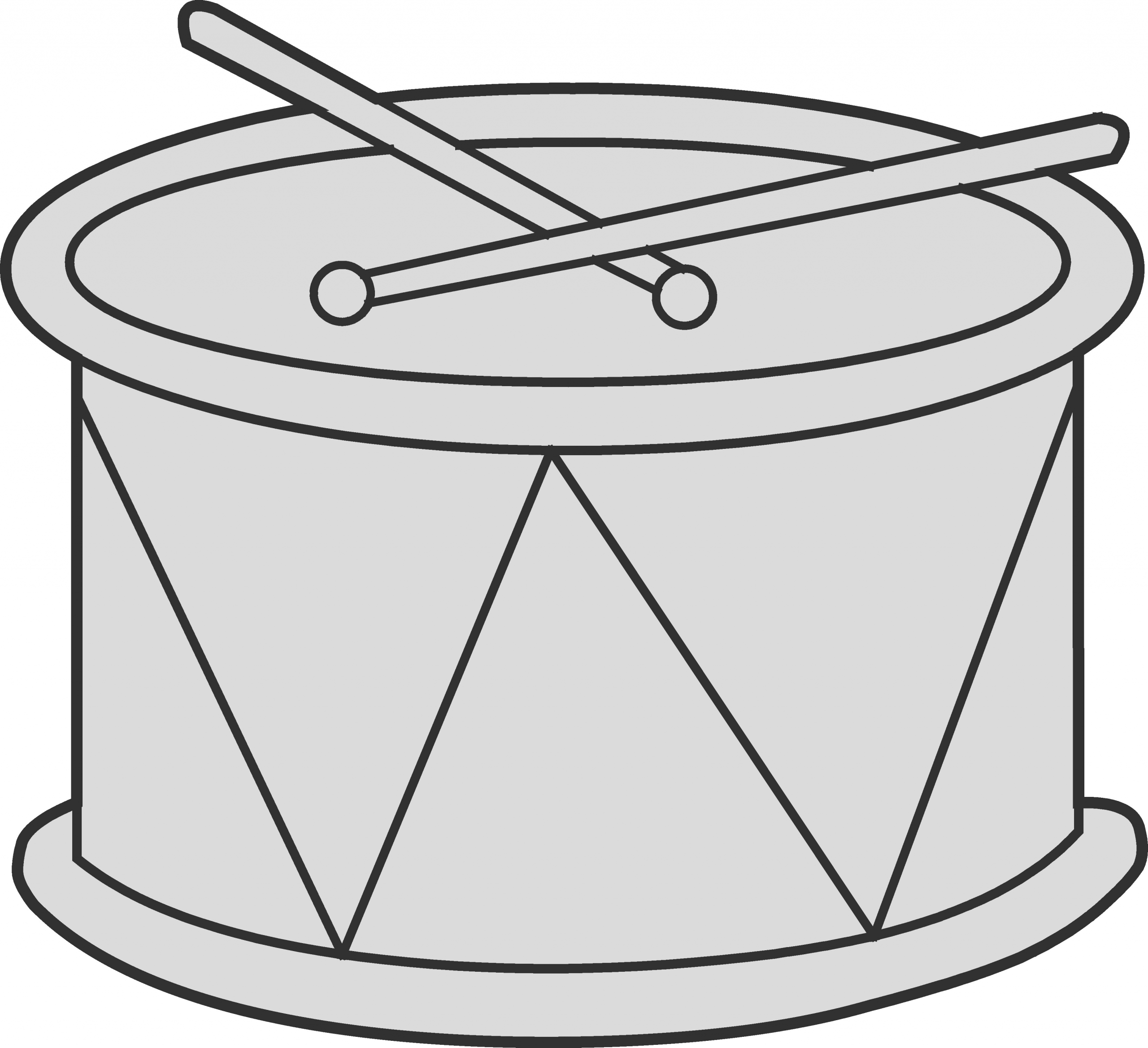 marching drum coloring page 1843