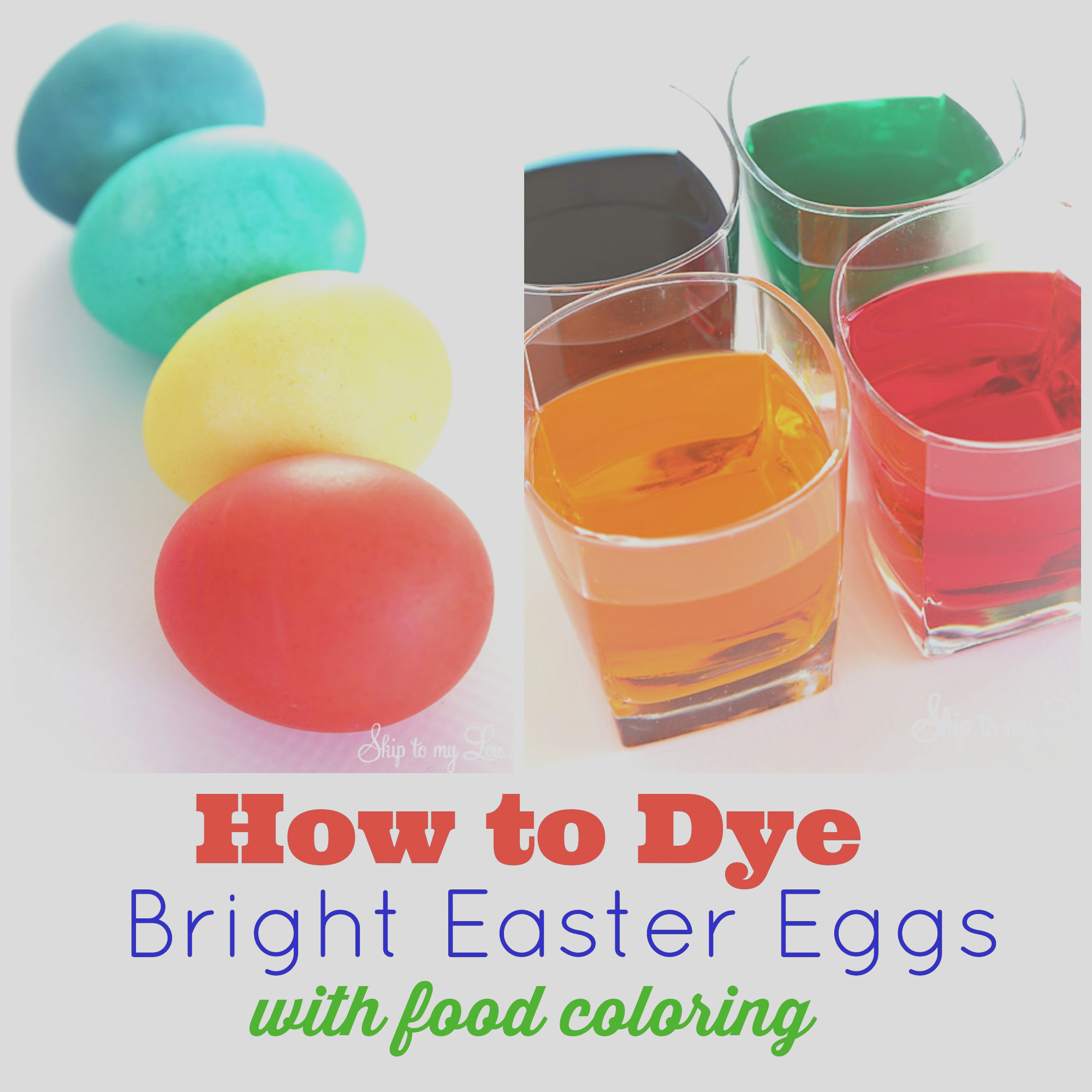 how to dye eggs with food coloring 2