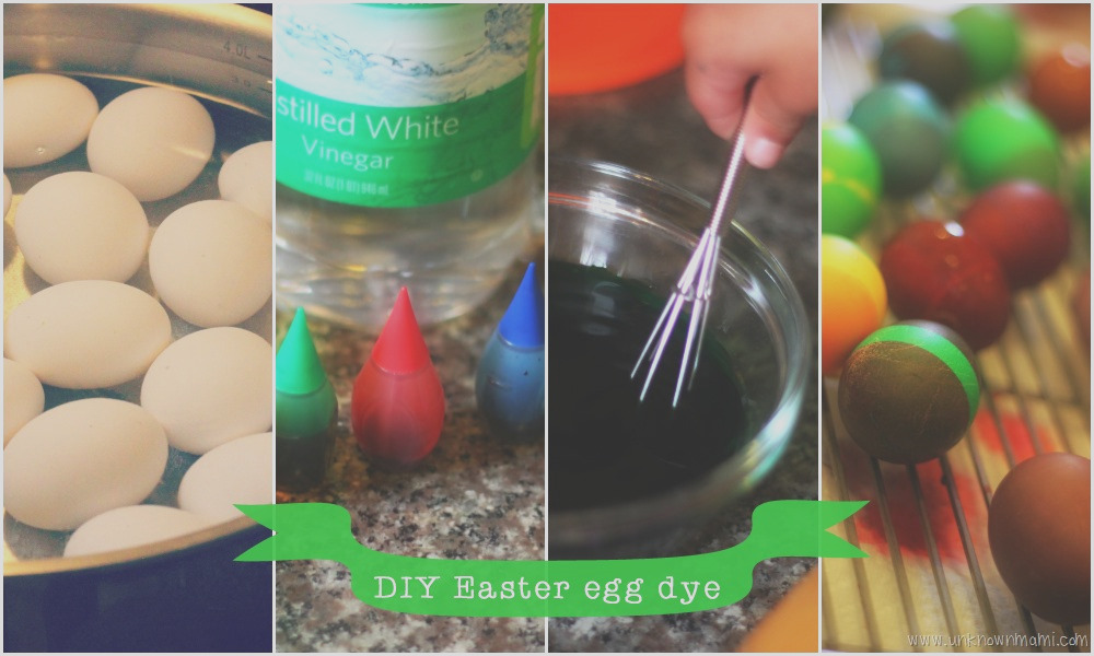 diy easter egg dye with food coloring and vinegar