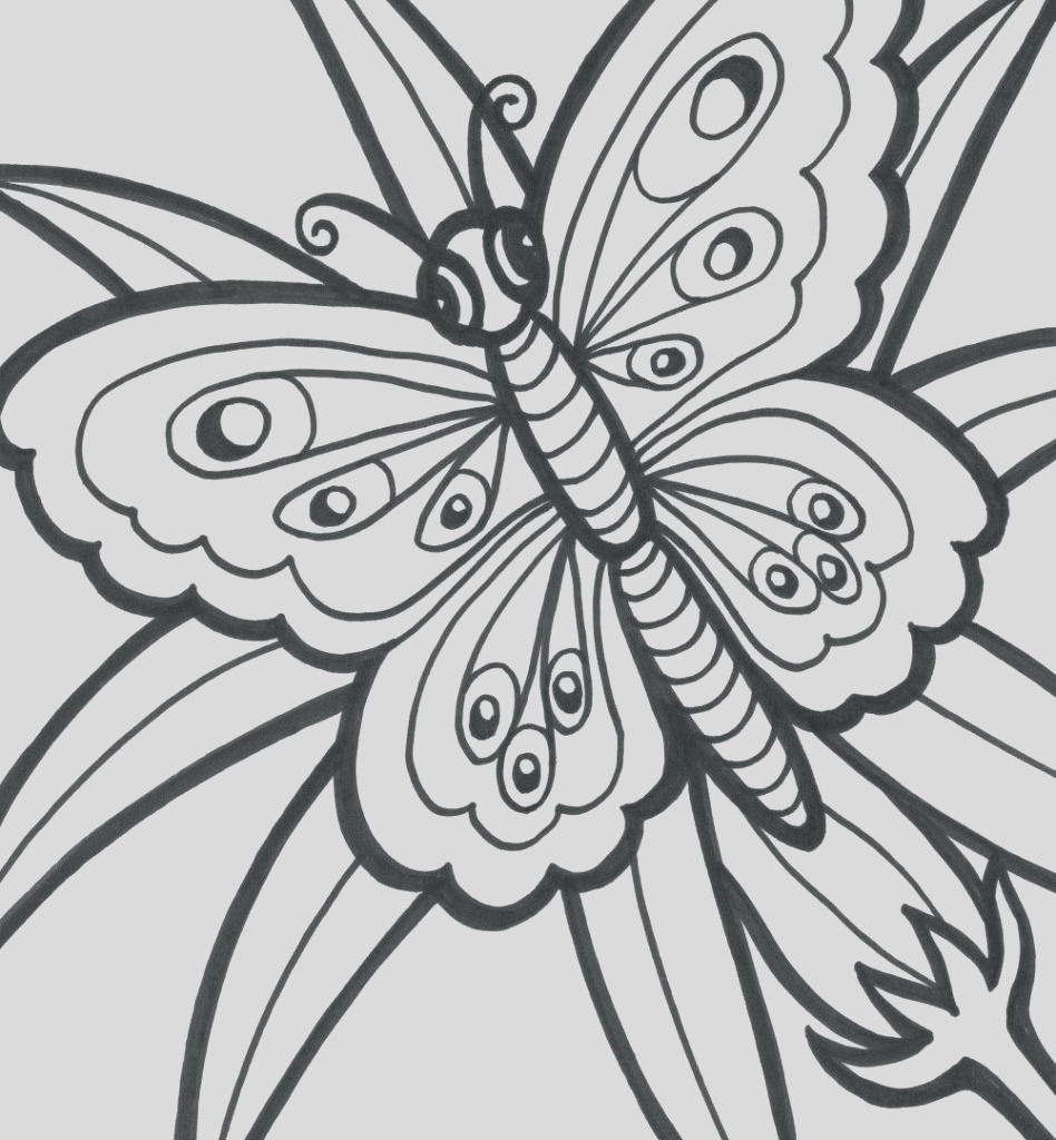 easy coloring pages for adults