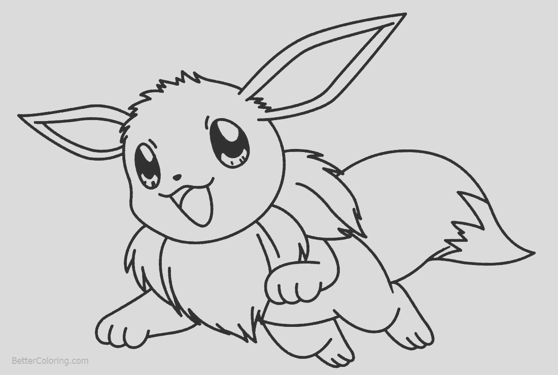 eevee coloring pages jumping