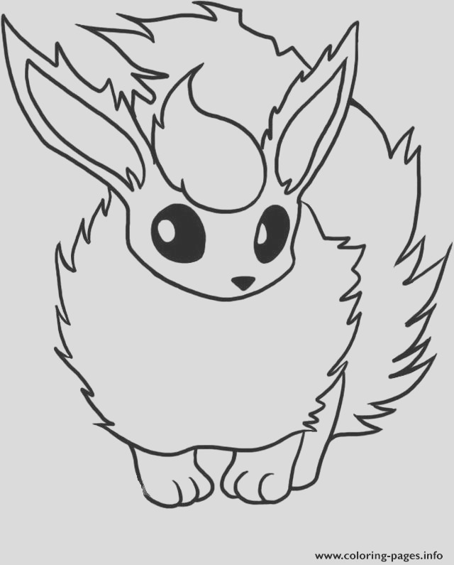 flareon eevee pokemon evolutions printable coloring pages book