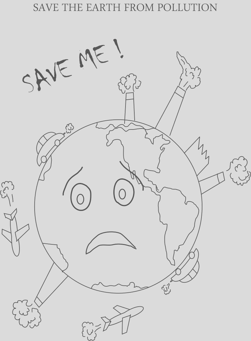 8819 control pollution printable coloring page for kids