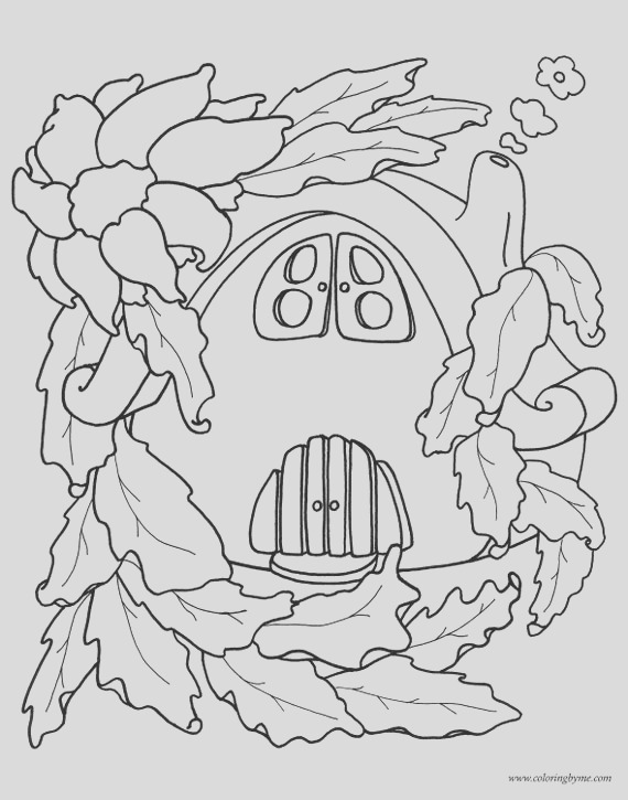 fairy houses coloring pages 12pages