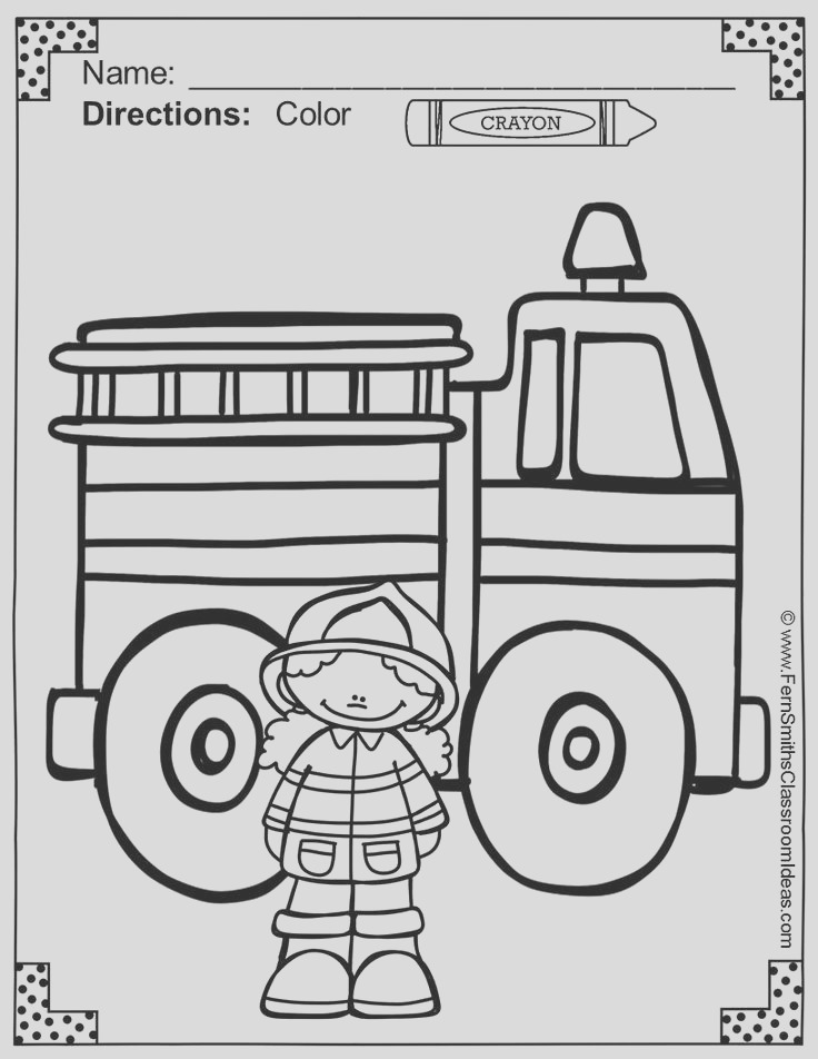 fire prevention week coloring pages