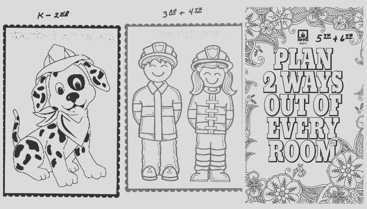 grfd celebrates fire prevention week coloring contest school visits