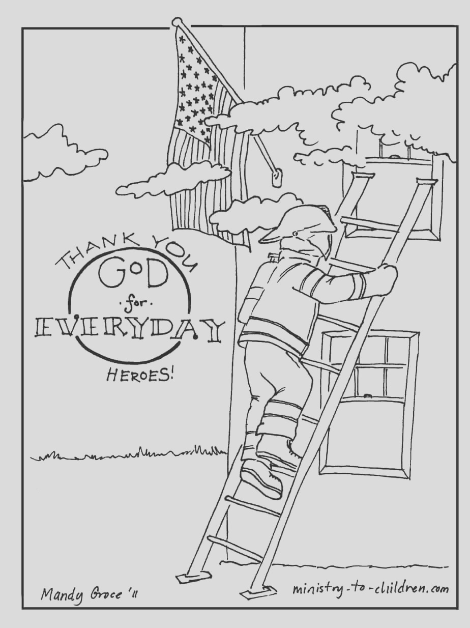 firefighter coloring page