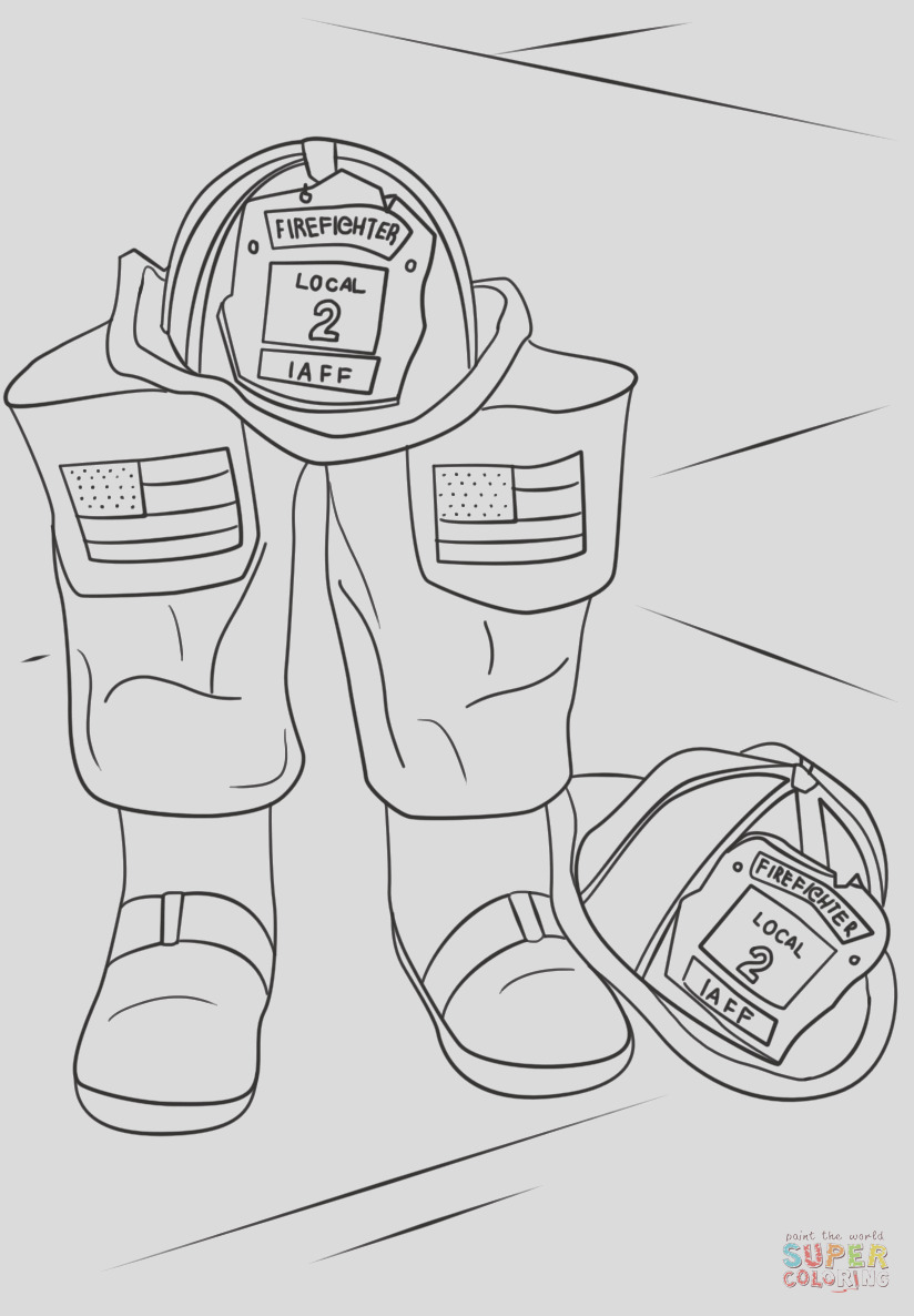 firefighter helmet and boots