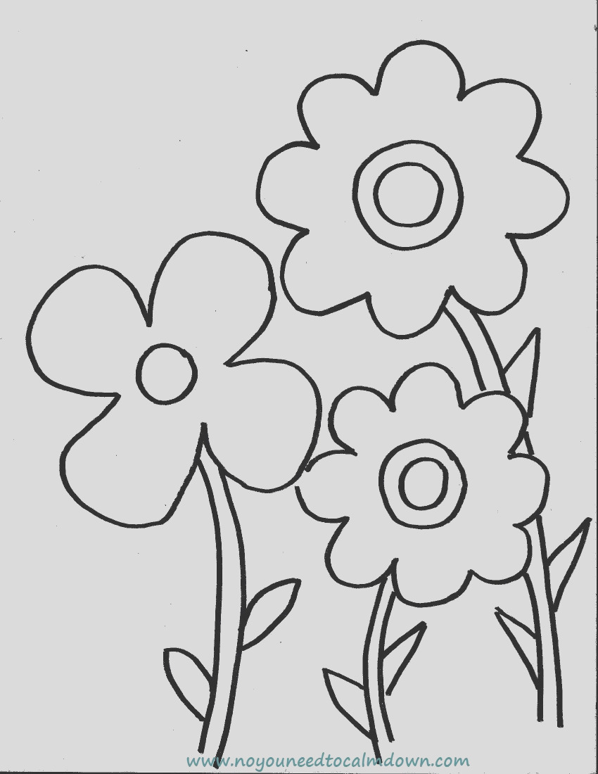 spring flowers coloring page kids free printable