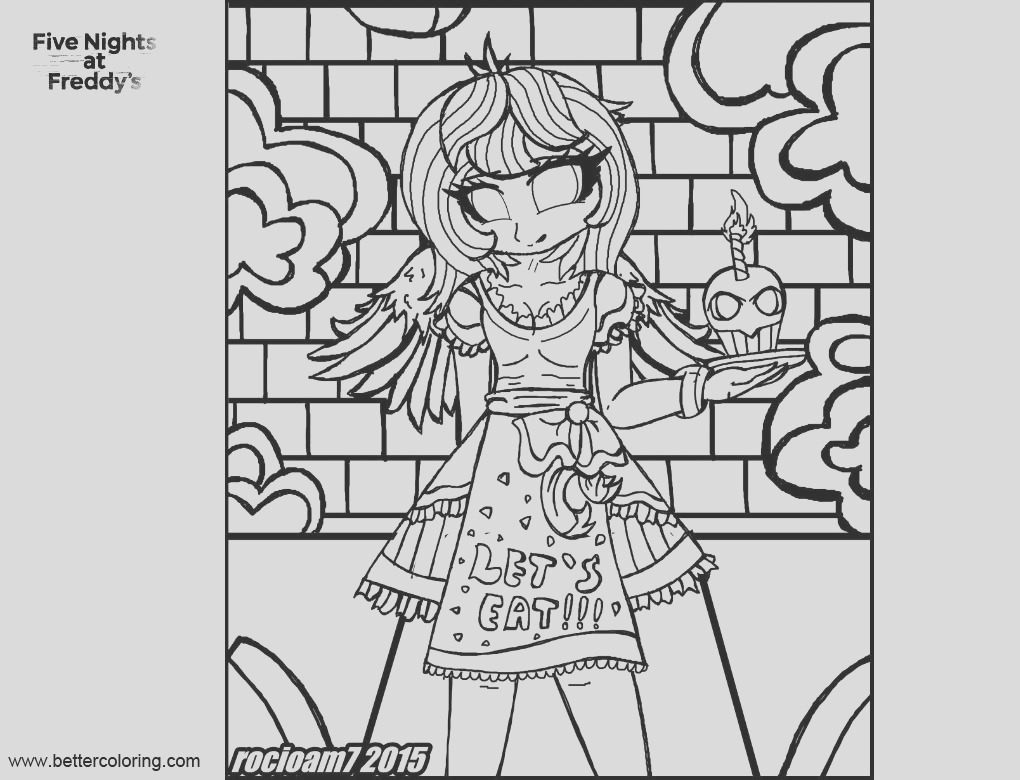 fnaf coloring pages humanized chica by rocioam7