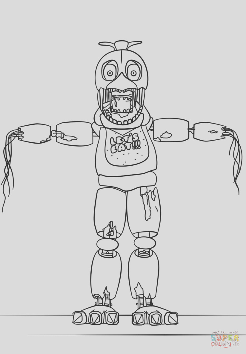 fnaf withered chica