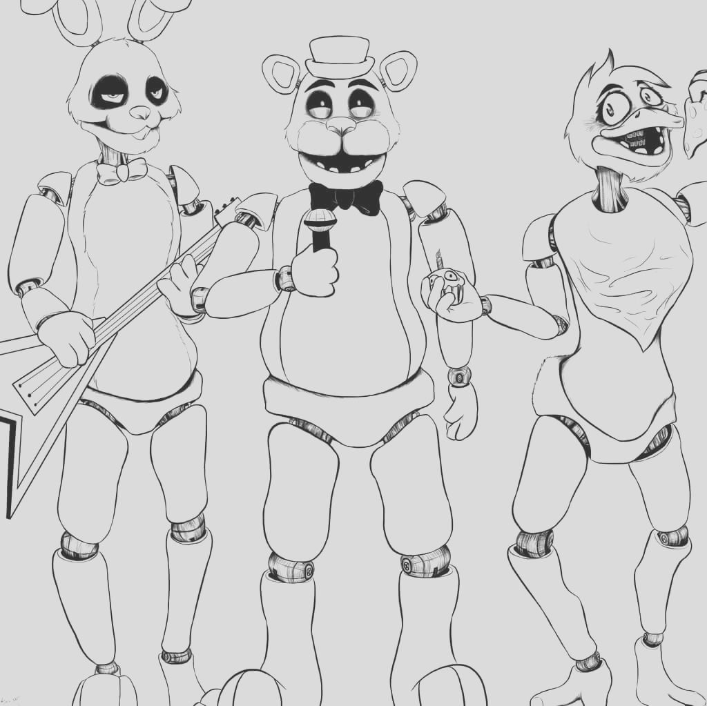 fnaf coloring pages 28