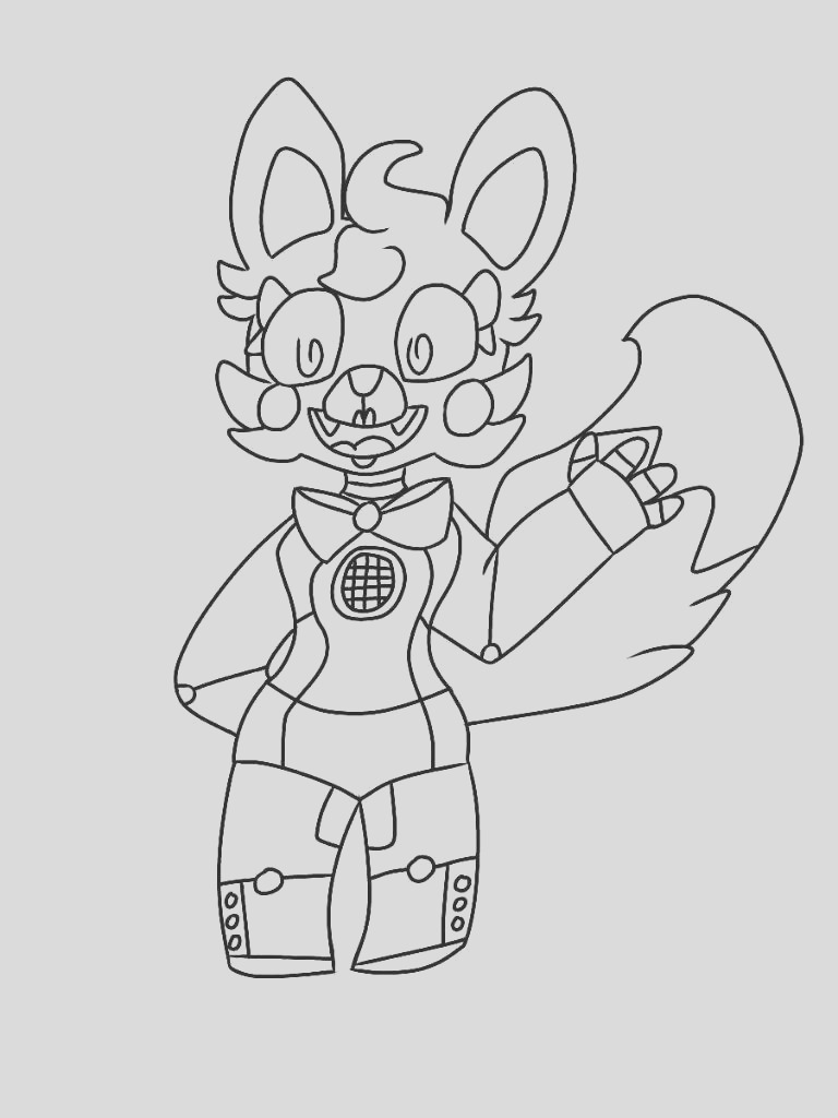 fnaf foxy coloring pages