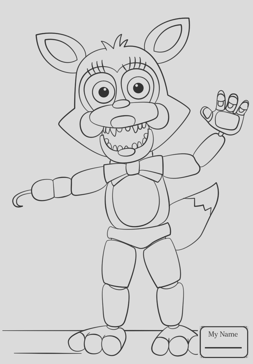 fnaf coloring pages foxy