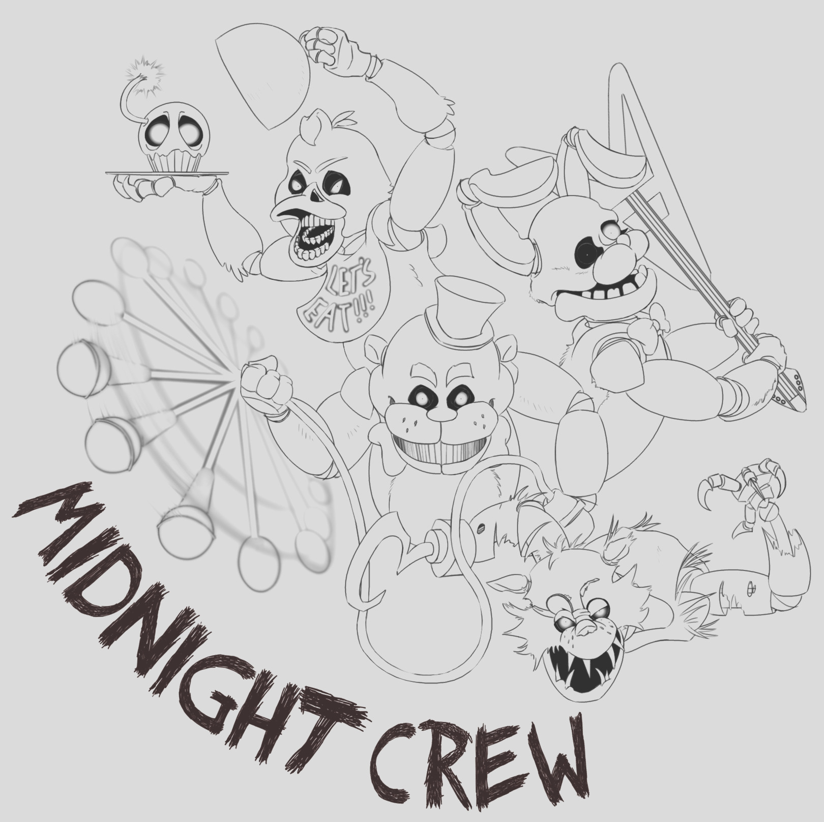 fnaf world coloring pages