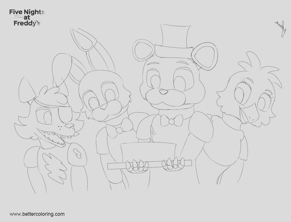 fnaf coloring pages by dragonbeast11