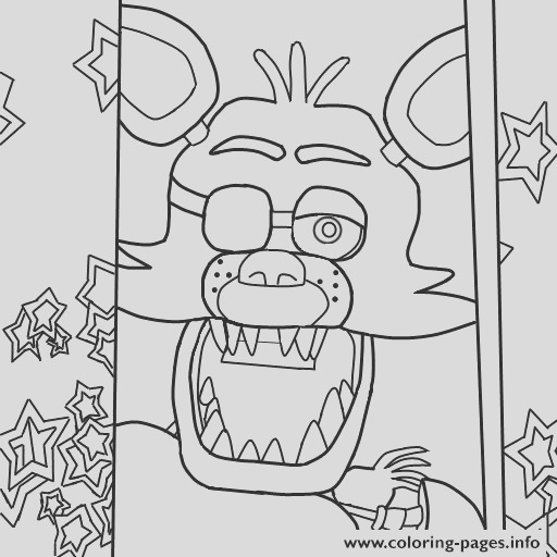 five nights at freddys fnaf foxy to color printable coloring pages book