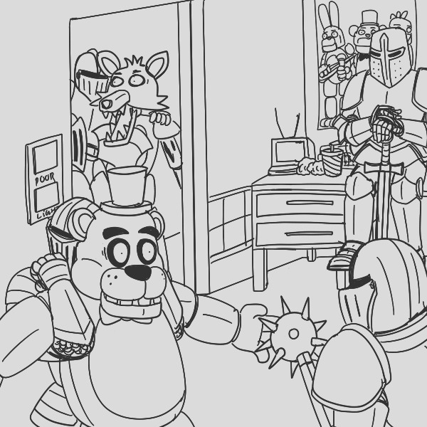 fnaf coloring pages 24