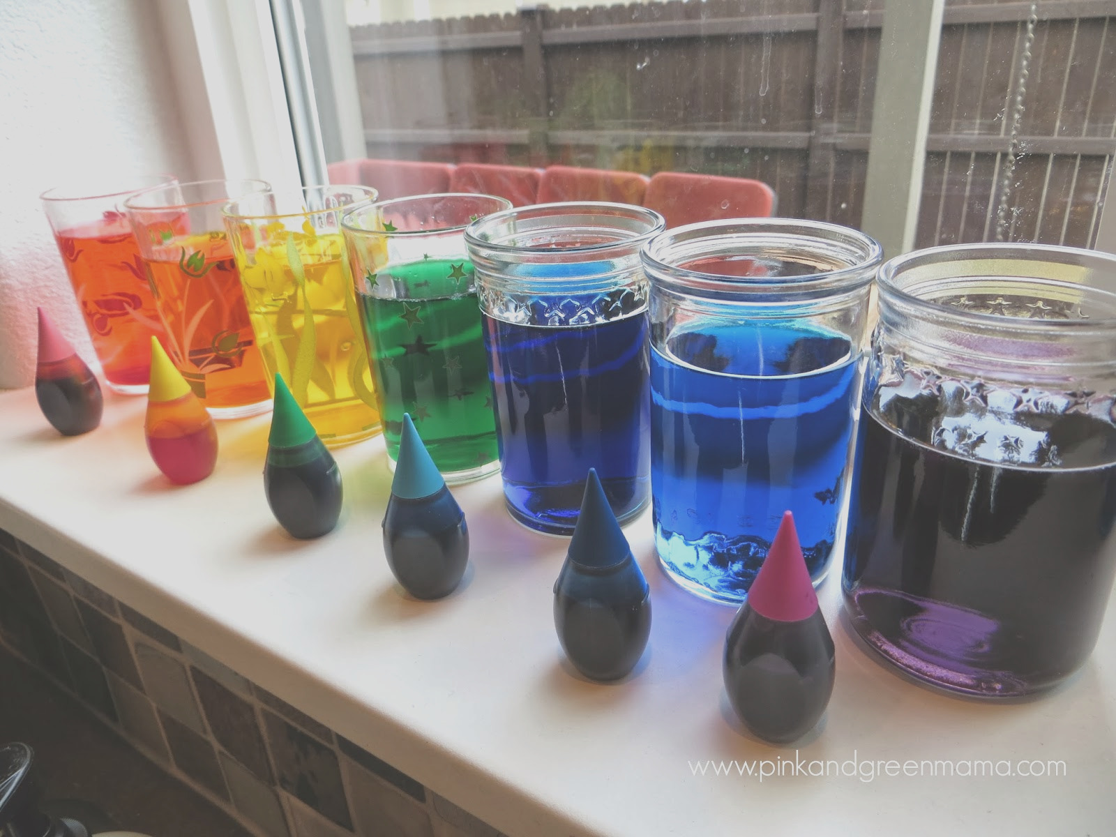 kitchen counter science with kids