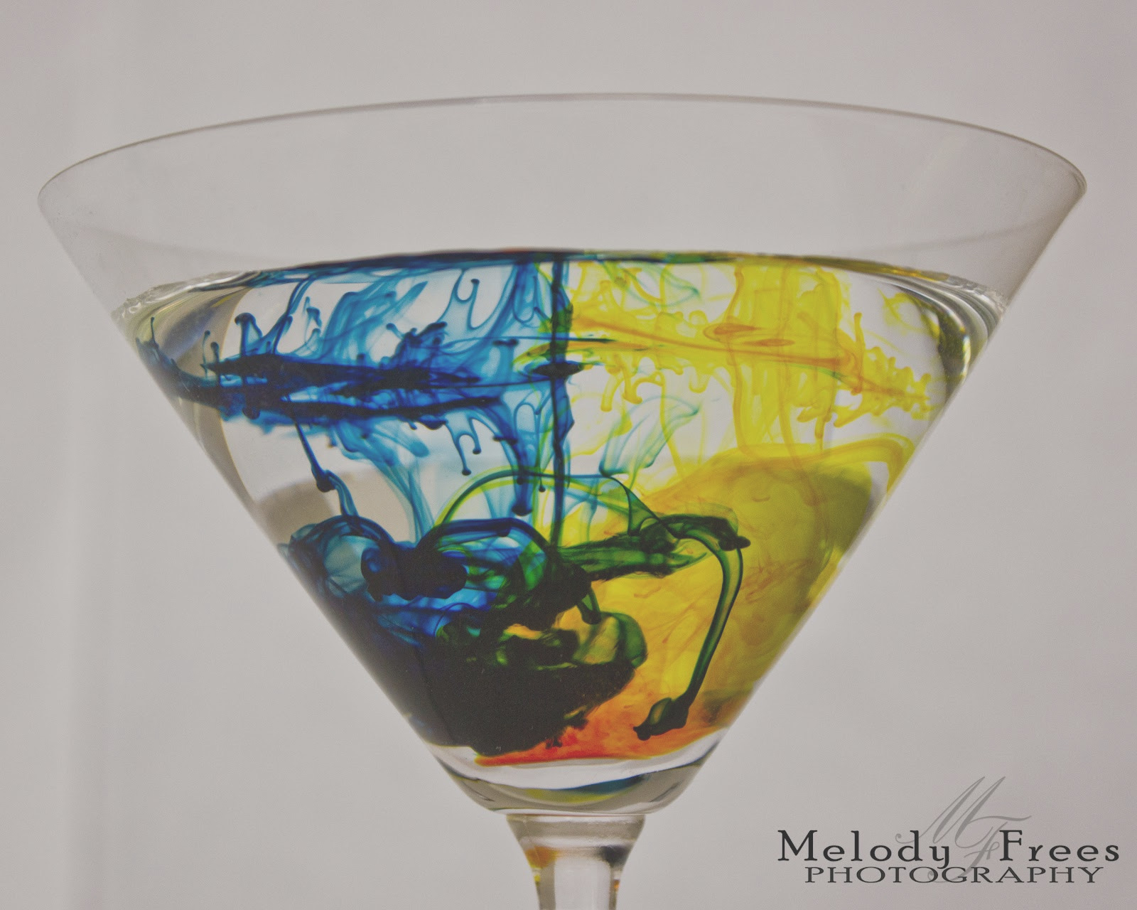 food coloring and water
