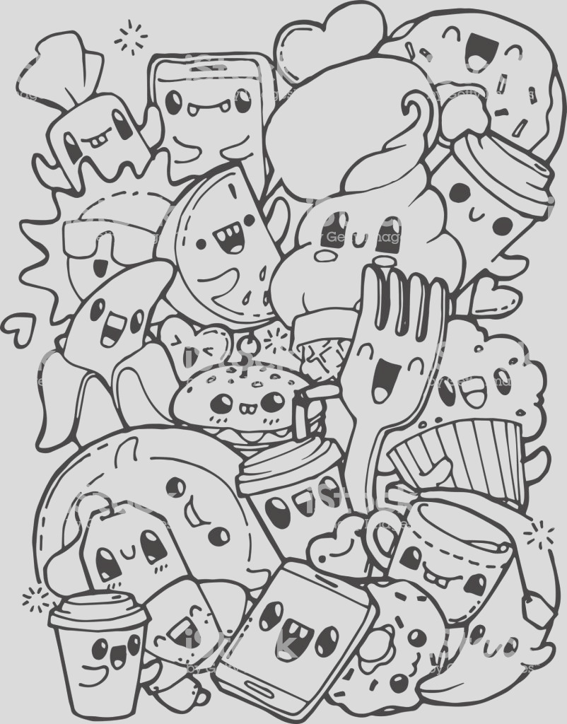 dining doodles breakfast lunch dinner food coloring pages for kids for adult anti gm